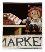 Raggedy Ann Selling Raspberries Fleece Blanket