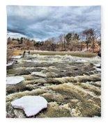 Raging Royal River Fleece Blanket