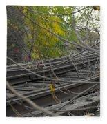 Rail Overgrowth Fleece Blanket