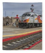 Rail Runner Train Albuquerque Nm Sc02985 Fleece Blanket