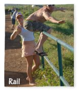 Rail Surfing Fleece Blanket
