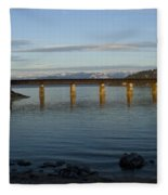 Railroad Bridge Over The Pend Oreille Fleece Blanket