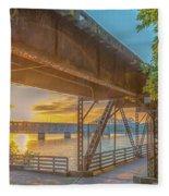 Railroad Bridge12 Fleece Blanket