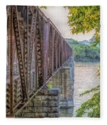 Railroad Bridge14 Fleece Blanket