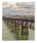 Railroad Bridge3 Fleece Blanket
