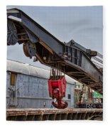 Railroad Crane Fleece Blanket