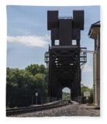 Railroad Lift Bridge 2 C Fleece Blanket