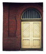 Railroad Museum Door Fleece Blanket