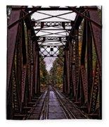 Railroad Trestle Fleece Blanket