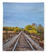 Rails To Parkersburg 2 Fleece Blanket
