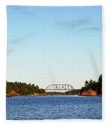Railway Bridge Fleece Blanket