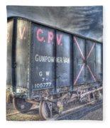 Railway Gunpowder Wagon Fleece Blanket