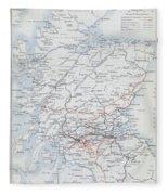 Railways Of Scotland Fleece Blanket