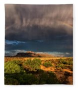 Rain And Rainbows  Fleece Blanket