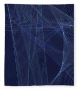Rain Computer Graphic Line Pattern Fleece Blanket