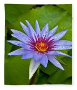 Rain Drenched Blue Lotus In Grand Cayman Fleece Blanket
