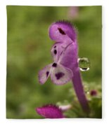 Rain Drop Olympics On Dead Nettle Flower Fleece Blanket