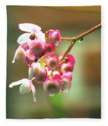 Rain On Flowers Fleece Blanket