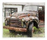 Rain On Rust 1 Fleece Blanket