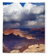 Rain Over The Grand Canyon Fleece Blanket