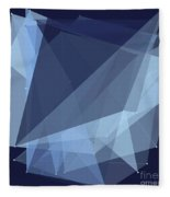 Rain Polygon Pattern Fleece Blanket