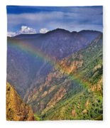 Rainbow Across Canyon Fleece Blanket