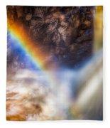 Rainbow And Falls Fleece Blanket