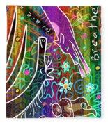 Rainbow Animals Yoga Mat Fleece Blanket