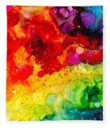 Rainbow Bubbles Fleece Blanket