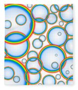 Rainbow Bubbles Fleece Blanket