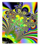 Rainbow Butterfly Bouquet Fractal Abstract Fleece Blanket
