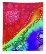 Rainbow Coaster  Fleece Blanket