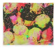 Rainbow Color Cupcakes Fleece Blanket