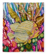 Rainbow-colored Sunfish Fleece Blanket