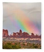 Rainbow Down Fleece Blanket