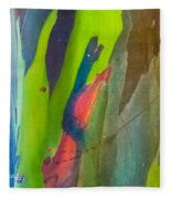 Rainbow Eucalyptus 7 Fleece Blanket