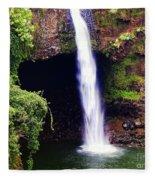 Rainbow Falls Iv Fleece Blanket
