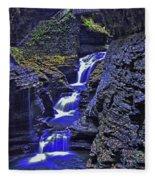 Rainbow Falls Watkins Glen State Park Fleece Blanket