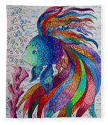 Rainbow Fish Fleece Blanket