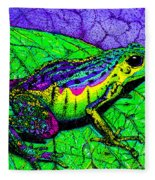 Rainbow Frog 2 Fleece Blanket