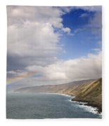 Rainbow From The Sea Fleece Blanket