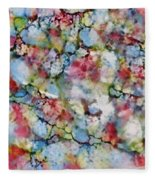 Rainbow Granite Fleece Blanket