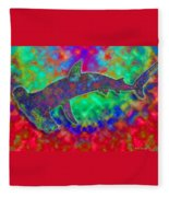 Rainbow Hammerhead Shark Fleece Blanket