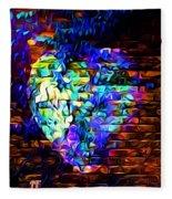 Rainbow Heart On A Wall Fleece Blanket