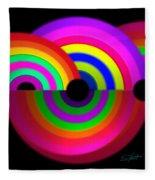 Rainbow In 3d Fleece Blanket