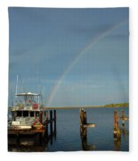 Rainbow In Apalachicola Fl Fleece Blanket