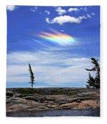 Rainbow In The Clouds Fleece Blanket
