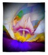 Rainbow In The Iris Fleece Blanket