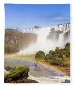 Rainbow In The Water Fleece Blanket