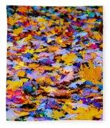 Rainbow Leaves Fleece Blanket